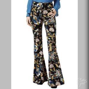 INC Womens Floral Print Flare Leg Pants- ChicEwe